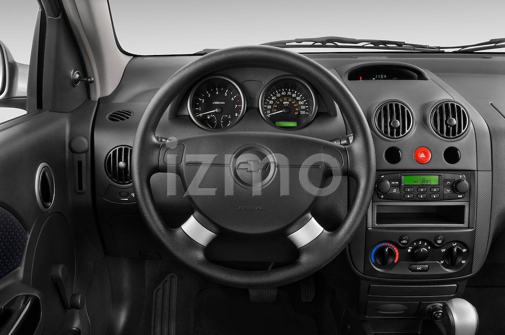 2008 Chevrolet Aveo 5 LS Steering Wheel View Stock Photo