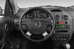 2008 Chevrolet Aveo 5 LS Steering wheel view Stock Photo