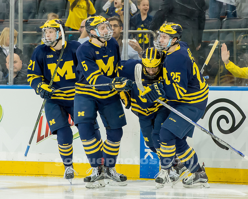 The University of Michigan hockey team beats Penn State, 6-3, at Madison Square Garden in New York City on Jan. 30, 2016.