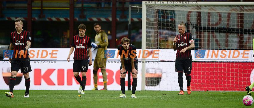 Delusione giocatori Milan<br /> Milano 14-05-2016 Stadio Giuseppe Meazza - Football Calcio Serie A Milan - AS Roma. Foto Giuseppe Celeste / Insidefoto