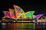 Sydney Opera House is illuminated during the Vivid Light Festival