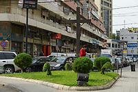 LEBNANON, Beirut, christian living quarter, cross with Jesus Christ / LIBANON, Beirut, christliches Wohnviertel