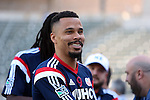 06 December 2014: New England's Charlie Davies. Major League Soccer held a training sessions at the StubHub Center in Carson, California one day before the Los Angeles Galaxy hosted the New England Revolution in MLS Cup 2014.