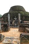 Pabula Vihara temple, UNESCO World Heritage Site, the ancient city of Polonnaruwa, Sri Lanka, Asia standing Buddha statue figure