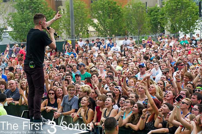 David Boyd of New Politics performs at the 2014 Bunbury Music Festival in Cincinnati, Ohio