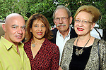 From left: Fred and Wendy Schiller with David and Pat Rosenberg at the Champagne & Ribs event at the Contemporary Arts Museum Thursday May 13,2010.  (Dave Rossman Photo)
