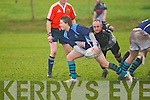 Killorglin's Luke O'Shea gets his pass away against Scarriff at O'Dowd park, Tralee on Sunday.