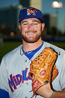Midland RockHounds pitcher Bobby Wahl (28) poses for a photo before a game against the Tulsa Drillers on June 2, 2015 at Oneok Field in Tulsa, Oklahoma.  Midland defeated Tulsa 6-5.  (Mike Janes/Four Seam Images)