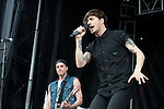 Gustav Wood of Young Guns performs during the 2013 Rock On The Range festival at Columbus Crew Stadium in Columbus, Ohio.