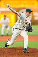 Starting pitcher Matt Montgomery #28 of the Greensboro Grasshoppers in action against the Hagerstown Suns at NewBridge Bank Park July 30, 2010, in Greensboro, North Carolina.  Photo by Brian Westerholt / Four Seam Images