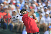 Stephan Jaeger (GER) tees off the 1st tee to start his match during Saturday's Round 3 of the 117th U.S. Open Championship 2017 held at Erin Hills, Erin, Wisconsin, USA. 17th June 2017.<br /> Picture: Eoin Clarke | Golffile<br /> <br /> <br /> All photos usage must carry mandatory copyright credit (&copy; Golffile | Eoin Clarke)