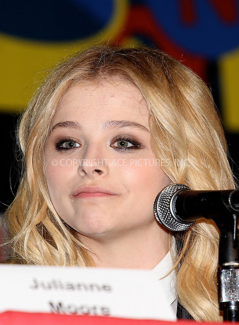 WWW.ACEPIXS.COM....October 13 2012, New York City....Actress Chloe Grace Moretz at the 2012 New York Comic Con at the Javits Center on October 13, 2012 in New York City....By Line: Nancy Rivera/ACE Pictures......ACE Pictures, Inc...tel: 646 769 0430..Email: info@acepixs.com..www.acepixs.com
