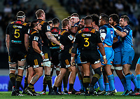A scuffle during the Super Rugby Match between the Blues and the Chiefs at Eden Park in Auckland, New Zealand on Friday, 26 May 2017. Photo: Simon Watts / www.lintottphoto.co.nz