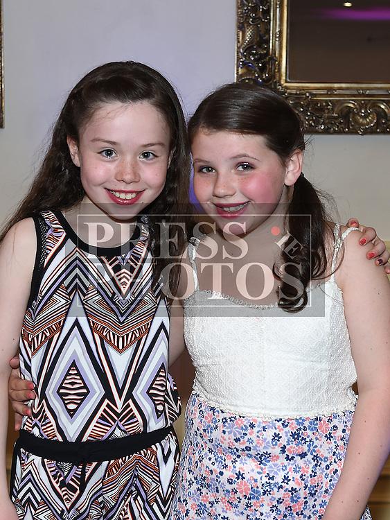 Hannah Halton and Kiva McDowell at Geraldine McDowell's 40th birthday in The d hotel. Photo:Colin Bell/pressphotos.ie