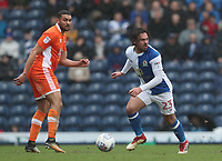 Blackpool's Colin Daniel and Blackburn Rovers' Bradley Dack<br /> <br /> Photographer Rachel Holborn/CameraSport<br /> <br /> The EFL Sky Bet League One - Blackburn Rovers v Blackpool - Saturday 10th March 2018 - Ewood Park - Blackburn<br /> <br /> World Copyright &copy; 2018 CameraSport. All rights reserved. 43 Linden Ave. Countesthorpe. Leicester. England. LE8 5PG - Tel: +44 (0) 116 277 4147 - admin@camerasport.com - www.camerasport.com