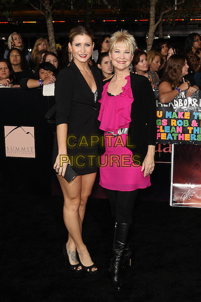 GABRIELLE STONE, DEE WALLACE.The Los Angeles premiere of 'The Twilight Saga Breaking Dawn Part 1' at Nokia Theatre at L.A. Live in Los Angeles, California, USA..November 14th, 2011.full length black jacket dress skirt pink boots tights dress.CAP/CEL .©CelPh/Capital Pictures