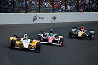 Verizon IndyCar Series<br /> Indianapolis 500 Race<br /> Indianapolis Motor Speedway, Indianapolis, IN USA<br /> Sunday 28 May 2017<br /> Oriol Servia, Rahal Letterman Lanigan Racing Honda, Conor Daly, A.J. Foyt Enterprises Chevrolet, James Hinchcliffe, Schmidt Peterson Motorsports Honda<br /> World Copyright: F. Peirce Williams<br /> LAT Images