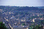 A072KN View over the centre of Bath to Lansdown from Beechen Cliff, Somerset, England