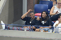 FLUSHING NY- SEPTEMBER 08: Russell Westbrook is seen watching Serena Williams Vs Karolina Pliskova on Arthur Ashe Stadium at the USTA Billie Jean King National Tennis Center on September 8, 2016 in Flushing Queens. Credit: mpi04/MediaPunch