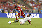 Diego Costa (ESP), Eduardo Vargas (CHI), JUNE 18, 2014 - Football / Soccer : FIFA World Cup Brazil<br /> match between Spain and Chile at the Maracana Stadium in Rio de Janeiro, Brazil. (Photo by AFLO)