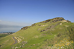 Golan Heights. Mount Susita overlooking the Sea of Galilee