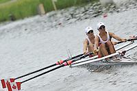 Amsterdam, NETHERLAND, CAN BLW 2X. 2011 FISA U23 World Rowing Championships, Thursday, 21/07/2011 [Mandatory credit:  Intersport Images].
