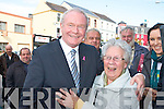 Mary Campbell camp gives Martin McGuinness a big hug on his Presidential campaign walkabout in Killarney on Wednesday