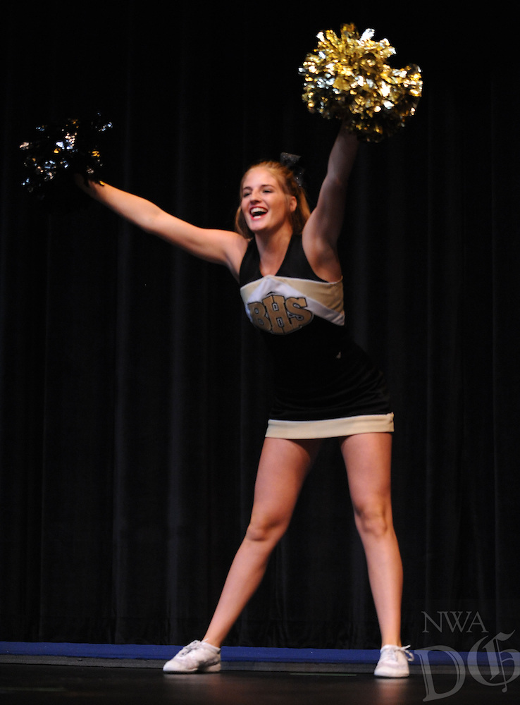 NWA Democrat-Gazette/ANDY SHUPE<br /> Mary Claire Graves competes Thursday, Sept. 22, 2016, during the 52nd annual Miss BHS Scholarship Pageant at the Arend Arts Center at Bentonville High School in Bentonville. The competition features 14 contestants and concludes at 7 p.m. Saturday. Visit nwadg.com/photos to see additional photographs from the event.