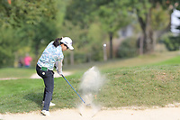 Ayako Uehara (JPN) plays her 2nd shot on the 13th hole during Thursday's Round 1 of The Evian Championship 2018, held at the Evian Resort Golf Club, Evian-les-Bains, France. 13th September 2018.<br /> Picture: Eoin Clarke | Golffile<br /> <br /> <br /> All photos usage must carry mandatory copyright credit (&copy; Golffile | Eoin Clarke)