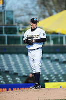 Trenton Thunder pitcher Josh Romanski (23) during game against the Richmond Flying Squirrels at ARM & HAMMER Park on April 14 2013 in Trenton, NJ.  Trenton defeated Richmond 15-1.  (Tomasso DeRosa/Four Seam Images)