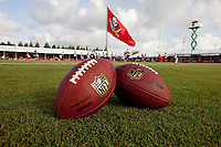 TAMPA, FLORIDA - July 27, 2012: Training camp of the Tampa Bay Buccaneers on July 27, 2012 at One Buccaneer Place. Photo by Matt May/Tampa Bay Buccaneers