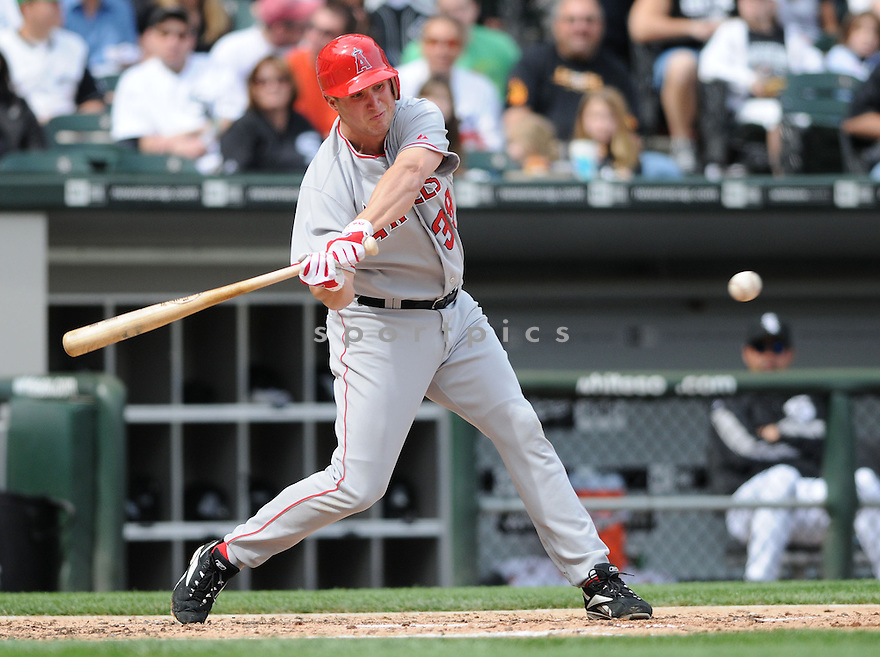 ROBB QUINLAN, of the Los Angeles Angels ,in action against the Chicago White Sox during the Angels game in Chicago, IL on May 24, 2008 The Angels won the game 2-0.