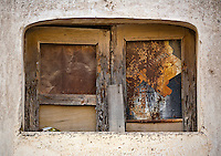 Old WINDOW in the ghost town of MINERAL DE POZOS which is now a small artist colony and tourist destination - GUANAJUATO, MEXICO