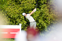 Thomas Pieters (Team Europe) on the 10th tee during the Saturday morning Foursomes at the Ryder Cup, Hazeltine national Golf Club, Chaska, Minnesota, USA.  01/10/2016<br /> Picture: Golffile | Fran Caffrey<br /> <br /> <br /> All photo usage must carry mandatory copyright credit (&copy; Golffile | Fran Caffrey)