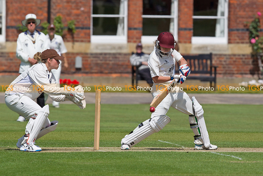 Mady Villiers of Essex plays backward of point - Essex Women v Surrey Women, Division 1 Royal London Women's One Day Cup, Felsted School, Essex - 25/05/14 - MANDATORY CREDIT: Ray Lawrence/TGSPHOTO - Self billing applies where appropriate - 0845 094 6026 - contact@tgsphoto.co.uk - NO UNPAID USE