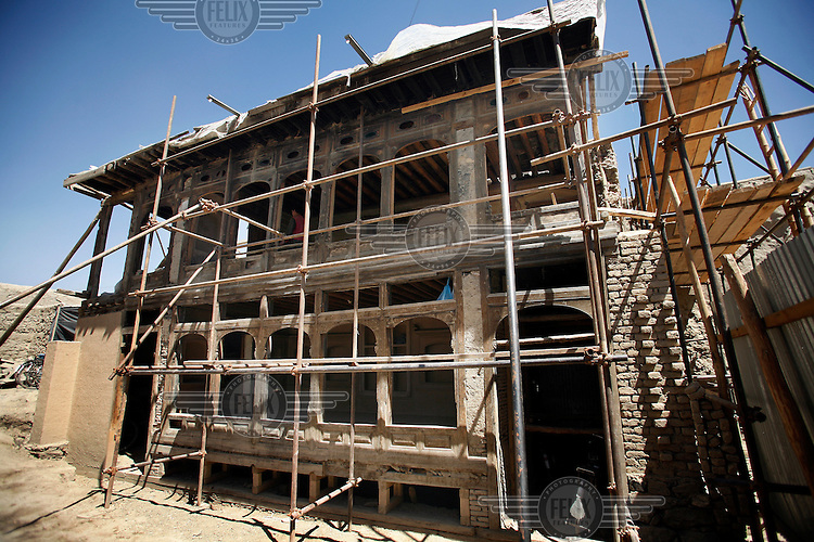 Historic Peacock House undergoing reconstrction.Turquoise Mountain Foundation is working to preserve Afghanistan's traditional crafts and historical buildings. In Kabul, work has started in the historic Murad Khane part of Kabul, and is largely completed in the royal Kart-e-Parwan fort.