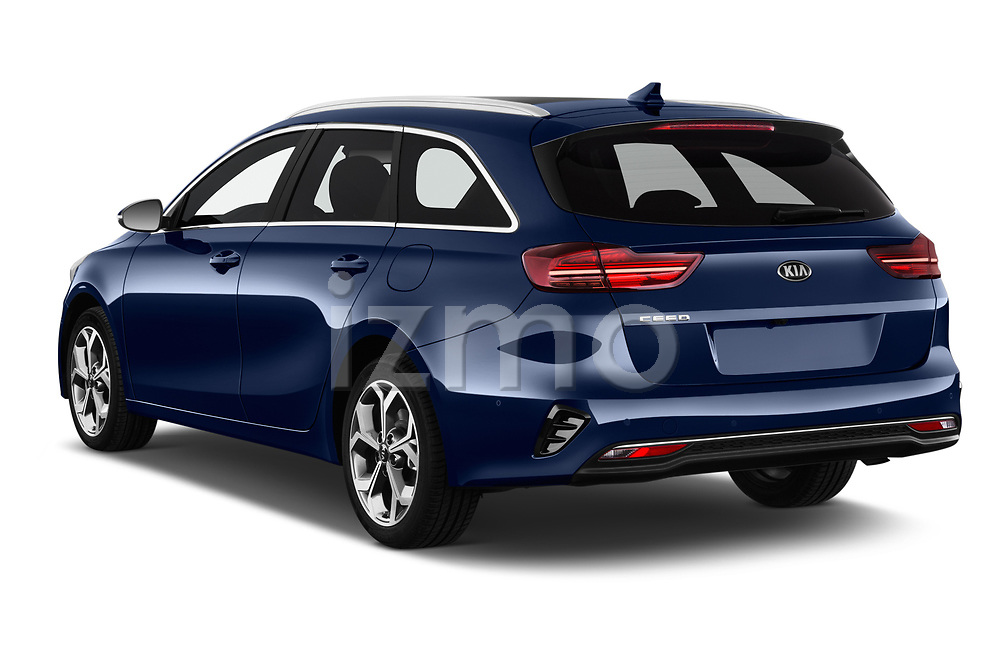 Car pictures of rear three quarter view of 2019 KIA Ceed-SW More 5 Door Wagon Angular Rear