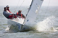 Sonar. Medemblik - the Netherlands, May 22nd 2012. Delta Lloyd Regatta in Medemblik (22/26 May 2012). Day 1.