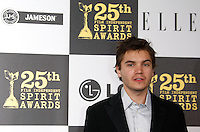 US actor Emile Hirsch arrives at the 25th Independent Spirit Awards held at the Nokia Theater in Los Angeles on March 5, 2010. The Independent Spirit Awards is a celebration honoring films made by filmmakers who embody independence and originality..Photo by Nina Prommer/Milestone Photo