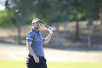Bernd Wiesberger (AUT) on the 18th during the 3rd round of the Abu Dhabi HSBC Championship, Abu Dhabi Golf Club, Abu Dhabi,  United Arab Emirates. 18/01/2020<br /> Picture: Fran Caffrey | Golffile<br /> <br /> <br /> All photo usage must carry mandatory copyright credit (© Golffile | Fran Caffrey)