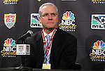 10 August 2011: U.S. Soccer Federation General Secretary Dan Flynn. MLS and NBC held a press conference at Lincoln Financial Field in Philadelphia, Pennsylvania announcing a three year broadcast deal involving MLS and U.S. Men's National Team games to be shown on NBC and NBC Sports Network (currently Versus) from 2012 to 2014.