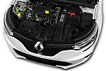 Car stock 2017 Renault Megane GT 5 Door Hatchback engine high angle detail view