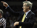 Iowa Head Coach Fran McCaffery signals his team during a timeout in their game against Davidson during 2015 NCAA Division I Men's Basketball Championship March 20, 2015 at the Key Arena in Seattle, Washington.  Iowa beat Davidson 83-52.  ©2015. Jim Bryant Photo. ALL RIGHTS RESERVED.