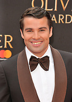Joe McElderry at the Olivier Awards 2018, Royal Albert Hall, Kensington Gore, London, England, UK, on Sunday 08 April 2018.<br /> CAP/CAN<br /> &copy;CAN/Capital Pictures<br /> CAP/CAN<br /> &copy;CAN/Capital Pictures
