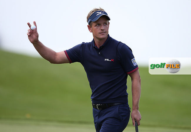 Luke Donald (ENG) completes his round of 7- and T3 during the Final Round of the BMW PGA Championship from Wentworth Golf Club, Virginia Waters, London, UK. Picture:  David Lloyd / www.golffile.ie
