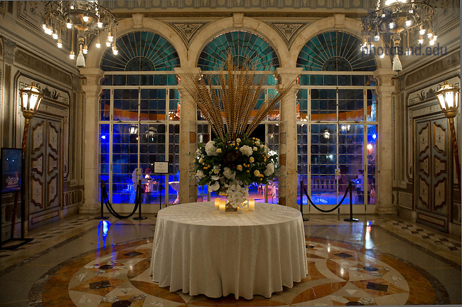 Jan 6, 2013; Villa Vizcaya dinner in Miami. Photo by Barbara Johnston/University of Notre Dame..