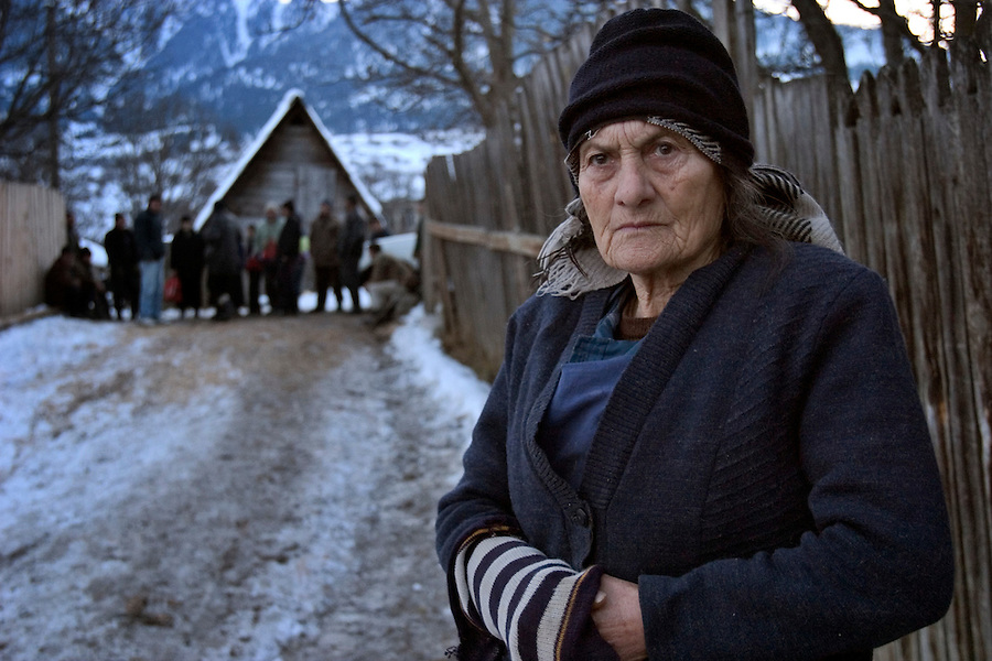 Jandara, Georgia, 07/12/2004..Residents in the poor village of Jandara in the Borjomi region claim that landslides damaging their homes have worsened due to construction work along the BTC pipeline route....