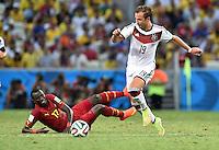 FUSSBALL WM 2014  VORRUNDE    GRUPPE G     Deutschland - Ghana                 21.06.2014 Mohammed Rabiu (li, Ghana) gegen Mario Goetze (re, Deutschland)