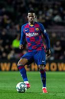 2nd February 2020; Camp Nou, Barcelona, Catalonia, Spain; La Liga Football, Barcelona versus Levante; Nelson Semedo of FC Barcelona comes forward on the ball