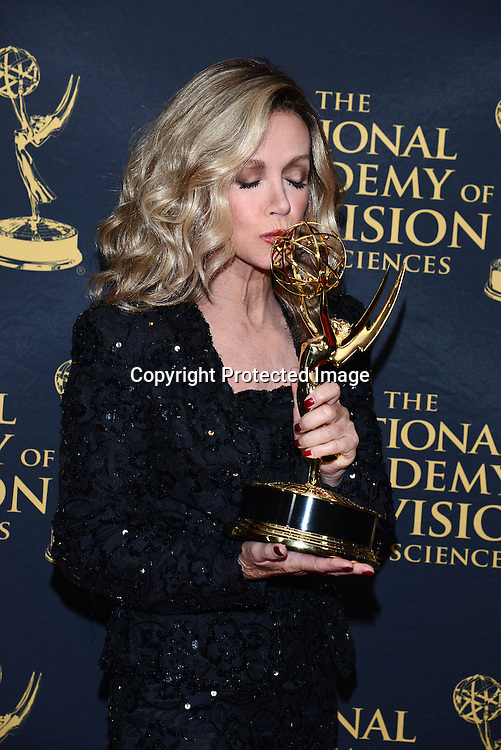 Donna Mills winner for guest star attends the Daytime Emmy Creative Arts Awards Press Room on April 24, 2015 at the Universal l Hilton in Universal City,<br /> California, USA.